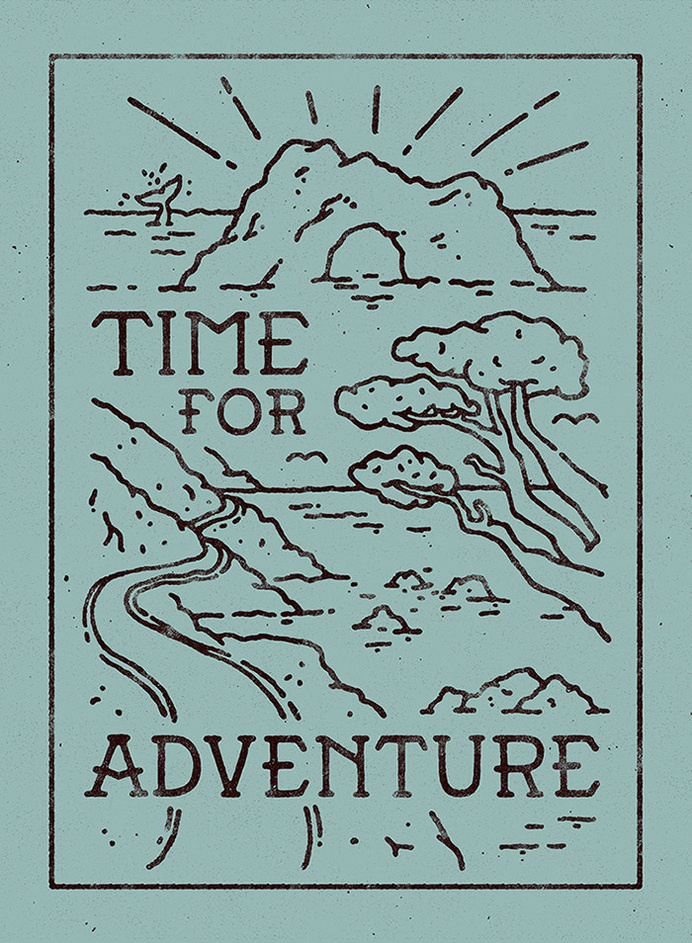 Time for adventure - Lettering by WEAREYAWN #adventure #lettering #typography