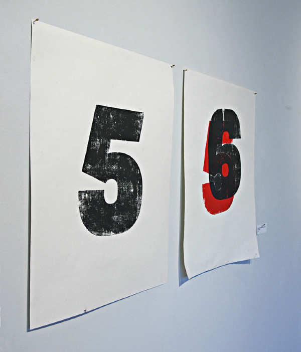 invisible demarcations Nil Santana #six #print #black #five #number #type #typography