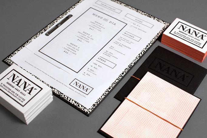 NANA #menu #identity #design #print #food
