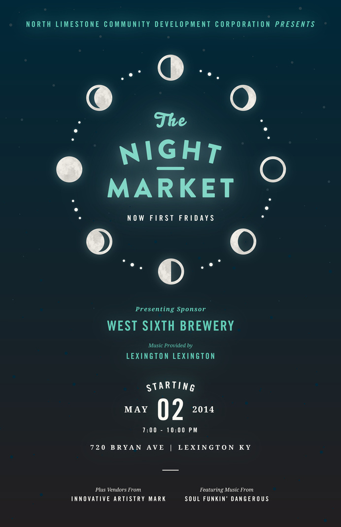 NightMarket_May #market #event #cycle #astrology #design #publicity #night #kentucky #poster #moon