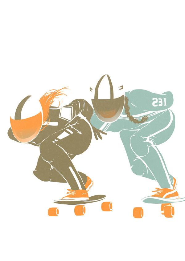 n Read Less Published: October 23, 2013 Views5 Appreciations5 Comments1 http://bit.ly/1eJV1d7 PROJECT TAGS roller derbyrollerskatelongboardg #longboard #roller #kilda #lola #girls #derby #beltrn #illustration #skates #saint