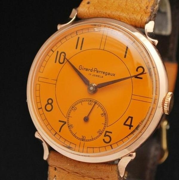 18k Gold Orange Watch #analog #dial #mechanical #piece #time #watches