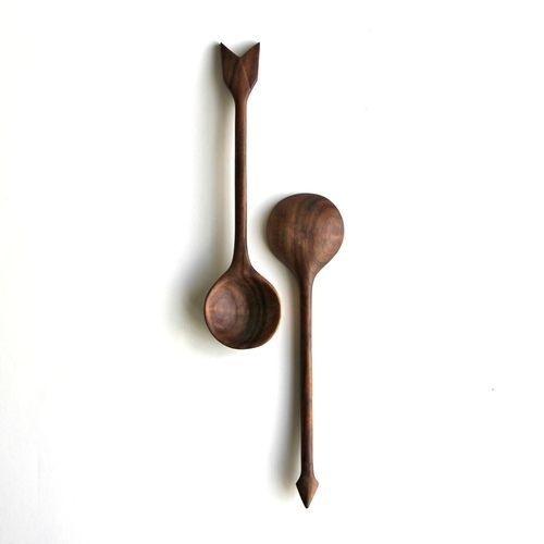 THE BROWN WORKSHOP #spoon #wood #arrow