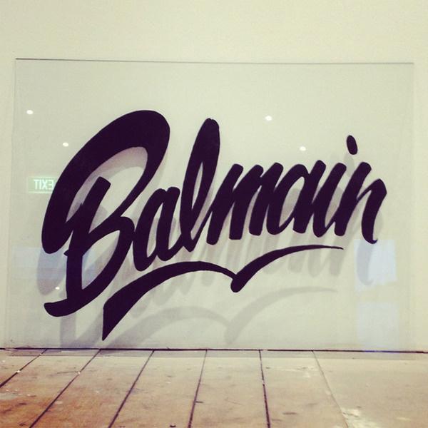 Balmain - Roach #lettering #graffiti #roach #glass #balmain