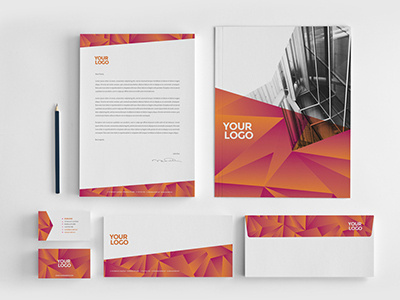 Modern Green Orange Stationery. Download here: http://graphicriver.net/item/modern-green-orange-stationery/7822754?ref=abradesign #modern #orange #simple #professional #minimal #gradient #stationery #template #download