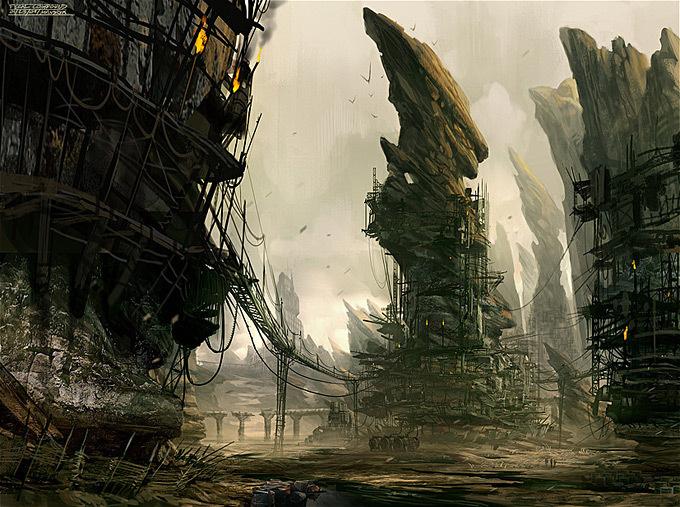 Daryl Mandryk Concept Art and Illustration #environment #sci-fi