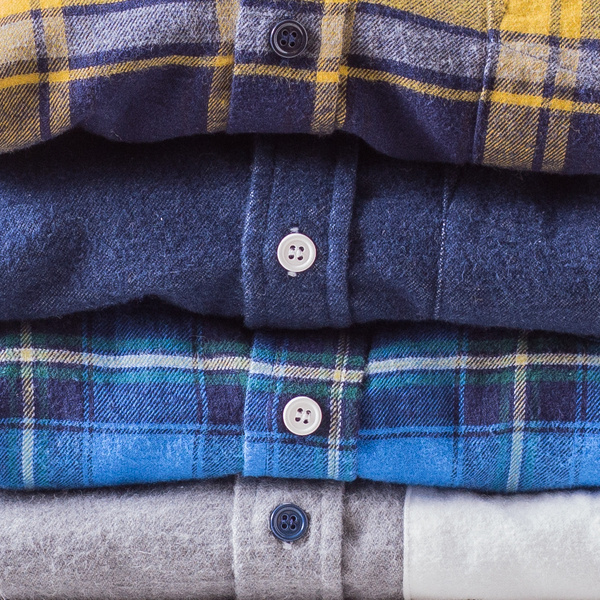 apartment number 9 #woods #yellow #color #plaid #shirt #layering #contrast #blue #flannel #awesome #shirts