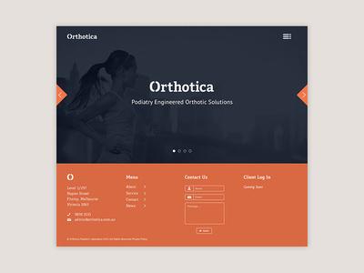 Orthotica Landing Page #carousel #ui #hero #corporate #image #web #typography