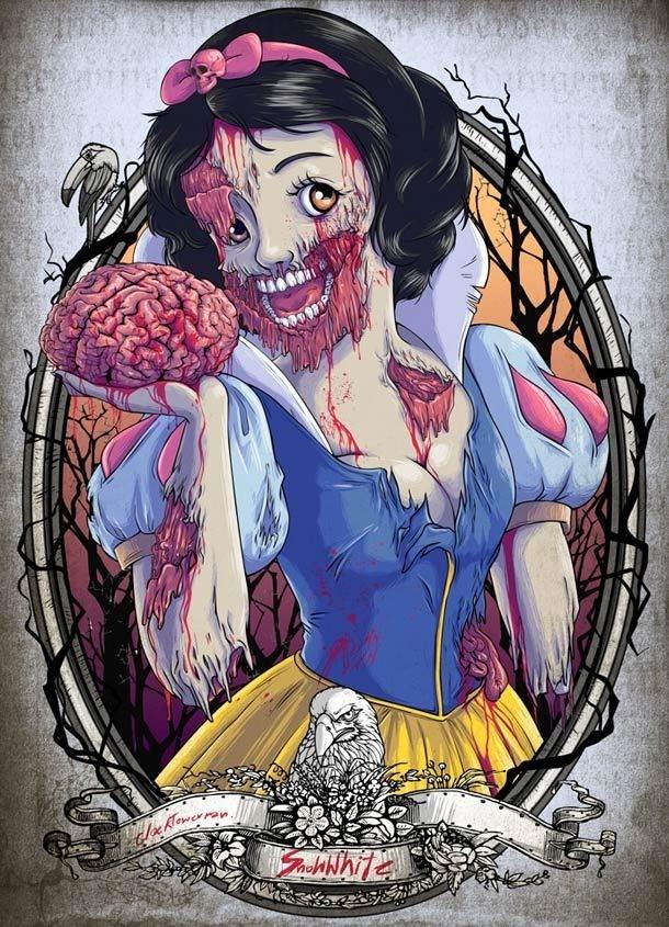Zombies Disney #zombie #illustration #disney