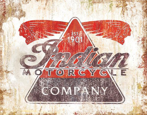 pulp flesh — Vintage Motorcycle Posters #design #indian #vintage #company #logo #motorcycle