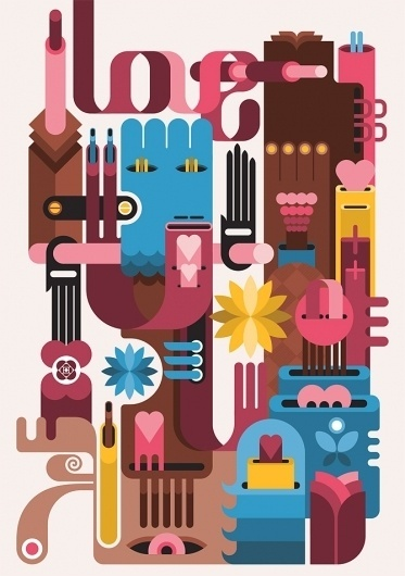 I love / I hate - Fernando Volken Togni #togni #volken #design #book #illustration #fernando