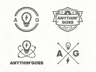 Anythin' Goes Concepts #badges #logo #branding #concepts