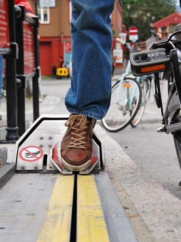 How can you travel up a steep and long hill, on your bike, without wasting any of your energy? By taking a ride on CycloCable - a ski lift f #lifestyle #design #travel #product #industrial #outdoor