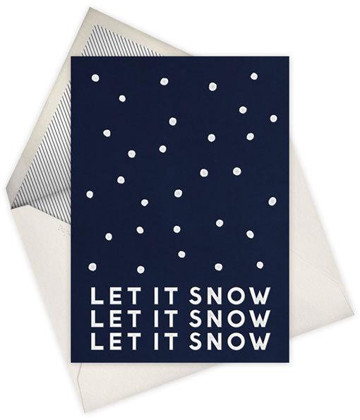 let it snow #illustration #letterpress