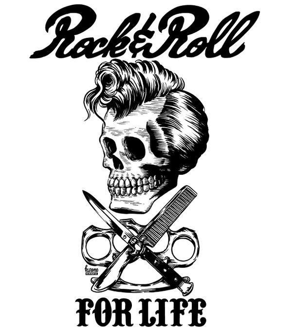 Pussy Pistols #skull #rock n roll