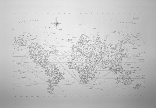 Design Ahoy #minimalism #typographic #map