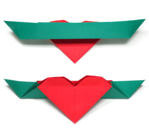 How to make a heart origami boat (http://www.origami-make.org/howto-origami-heart.php)