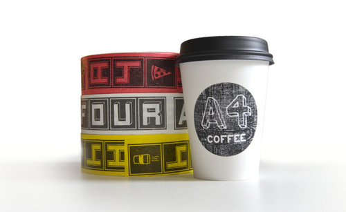 Area Four Restaurant - Packaging #packaging #design #graphic #coffee #cup #package
