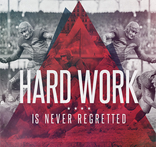 Work Hard #red #white #black #triangle #and #type