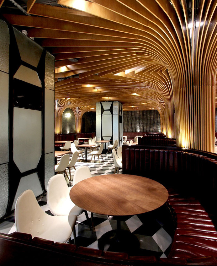 New Trendy Restaurant & Bar by CAA - #bar, #restaurant, #restaurantdesign, architecture