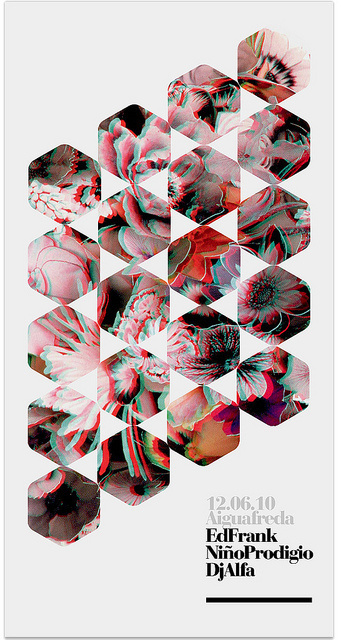 3D poster (3Dglasses) — marindsgn #3d #hexagon #electronic