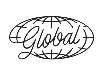 Global #logo #globe #script #typography