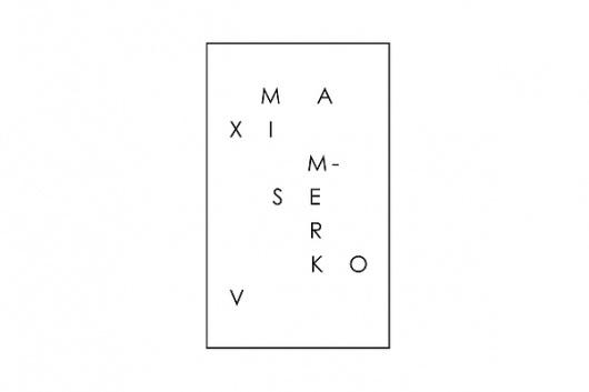 Logotypes. on the Behance Network #logotype #maxim #blackwhite #serkov