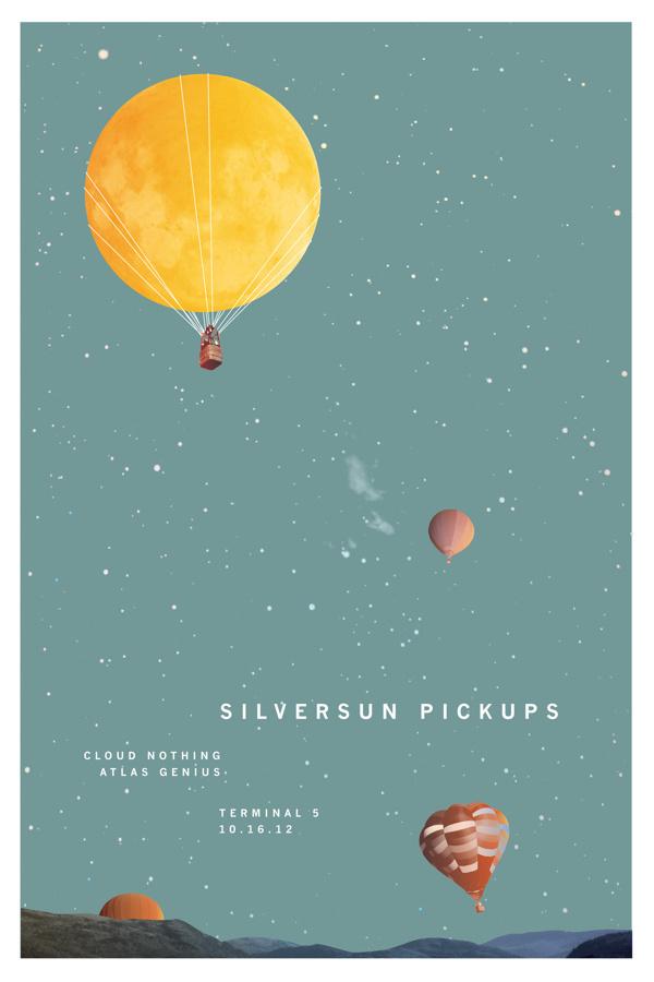 Concert Posters #silversun #concert #iris #sprague #poster #pickups #moon