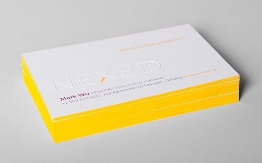 FPO: NEXED Business Card #edge #emboss #business #card #painting #nexedm