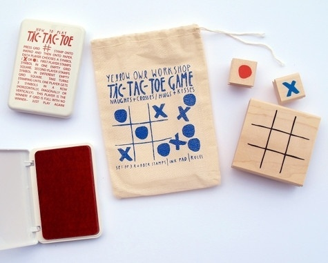 Design*Sponge » Blog Archive » tic-tac-toe stamp set #stamp #kit