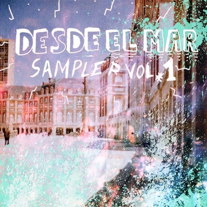 Cover Cd for Desde el Mar Label. Textures and filter in photo. Type created by hand. #plata #argentina #el #desde #del #label #indie #music #mar