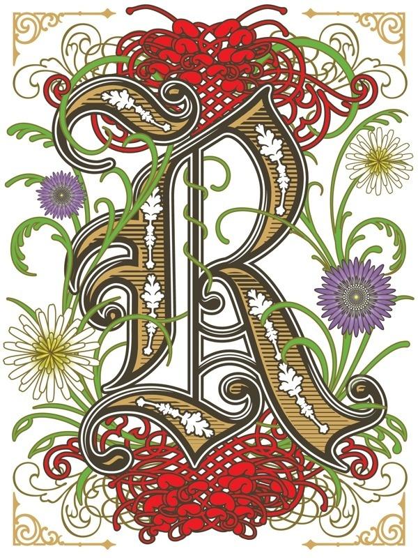 Robyn Gordon Drop Cap on Behance #cap #drop #lettering