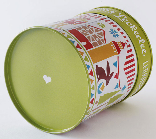 Strohl Leckerlee Holiday Tins #logotype #lettering #packaging #illustration #tin #metal