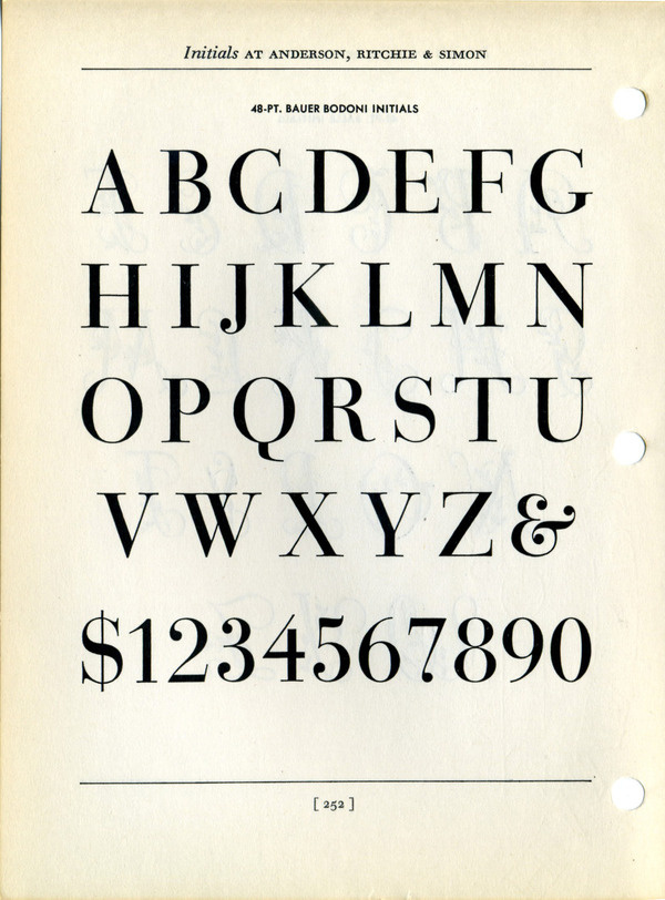 I think this is Bauer Bodoni Title. The figures probably are not from the same font as the caps because in a titling face the figures and ca #type #specimen #typography
