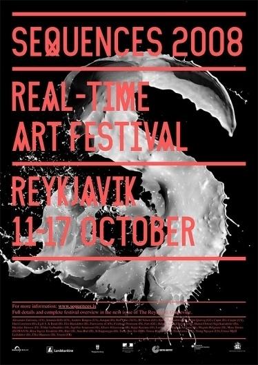 Sveinn Davíðsson — Sequences 2008 #type #poster #custom