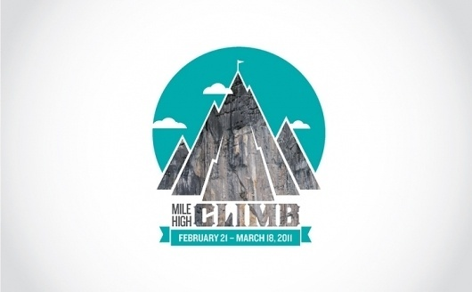 Kyle Marks Design - Mile High Climb #branding #rock #texture #identity #logo #climbing