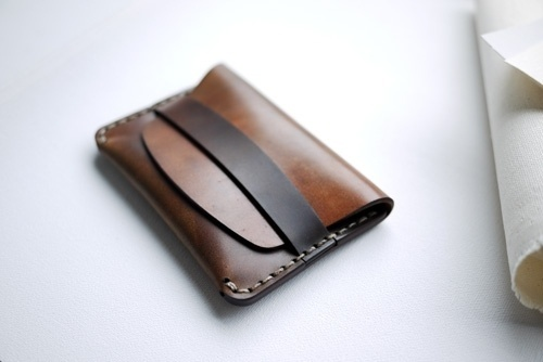 Makr Flap Slim Cordovan. / Blog | Leather Goods, Wallets, Bags, Accessories | Made in the USA #makr #leather #wallet