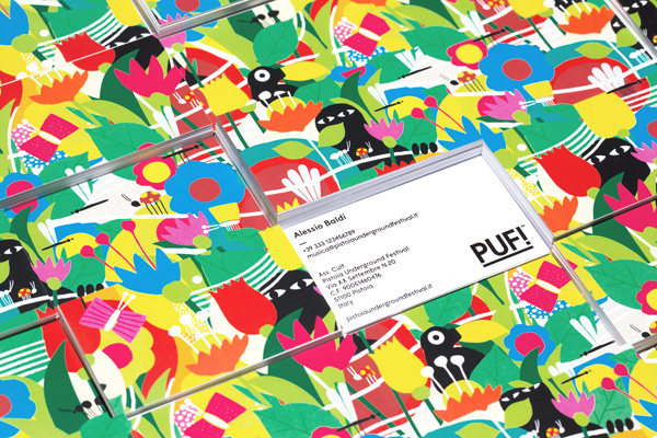 PUF!xe2x84xa2 Festival - Brand Identity #plants #business #festival #card #print #design #graphic #culture #illustration #identity