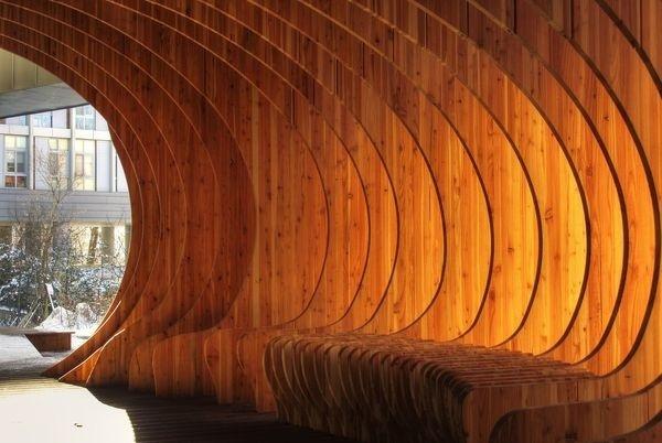 CJWHO ™ (Rest Hole in the University of Seoul, South Korea...) #design #seoul #wood #architecture #art