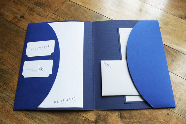 BlueOlive Identity on Behance #identity #stationary #folder
