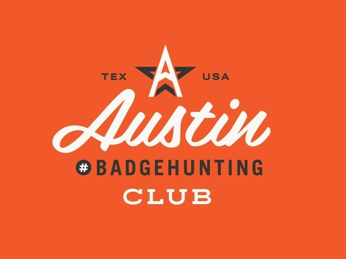 Austin Badgehunting Club by Allan Peters #design #badge #typography