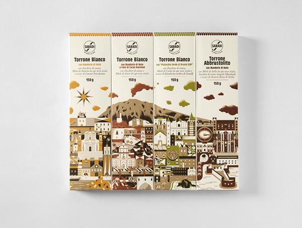 Sabadì – I Torroni Italian packaging design #packaging #design #sicily #sabadi #illustration #torroni #italy