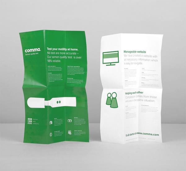 Comma on Behance #brochure #poster
