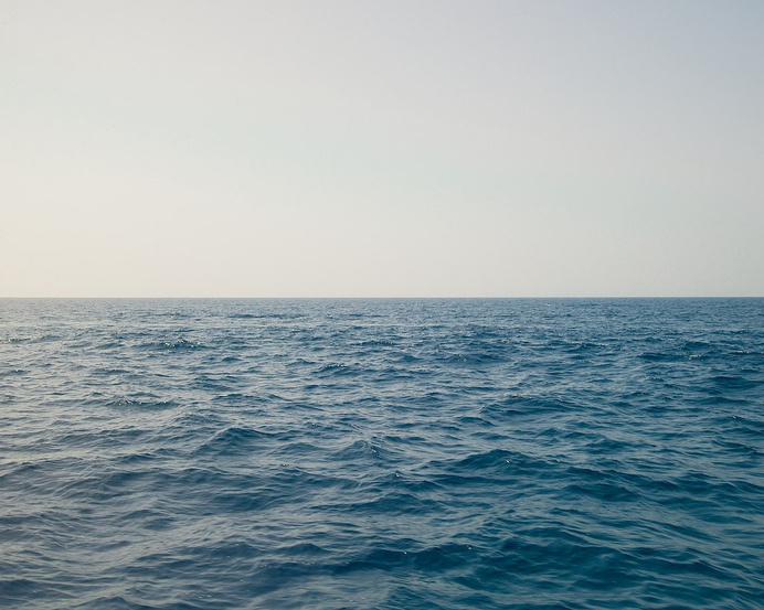 sea and sky. #tranquil #white #horizontal #graphic #landscape #calm #sea #minimal #summer #blue #grey