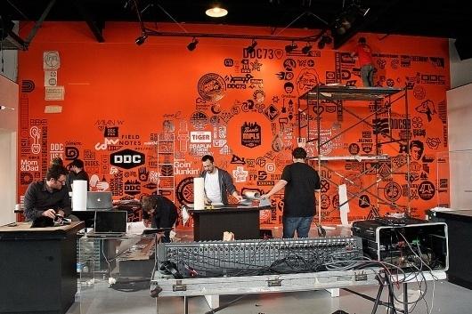 Insights 2012 Design Lecture Series — Calendar — Walker Art Center #logos #signage #wall #draplin #ddc #type