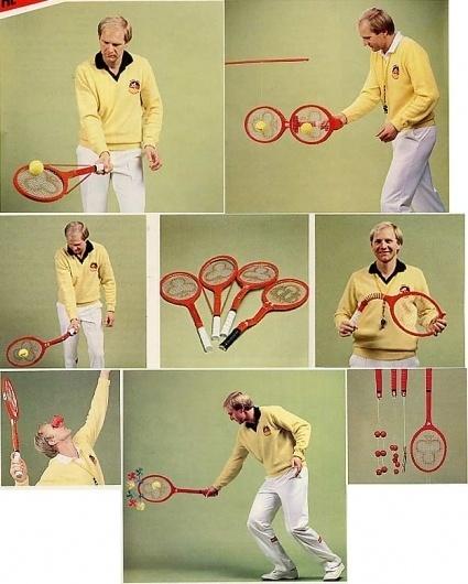 Hans Zinner`s special tennis training racquets, 1984 - 80s-tennis.com #hans #racquets #oddish #zinner #1984