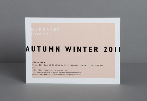thisislosko:Studio Small — Margaret Howell #invite