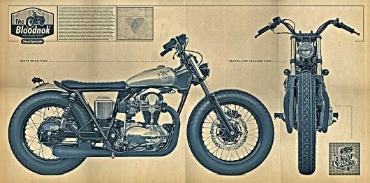 :: DEUS EX MACHINA - The Bloodnok W650 :: #print #motorcycle