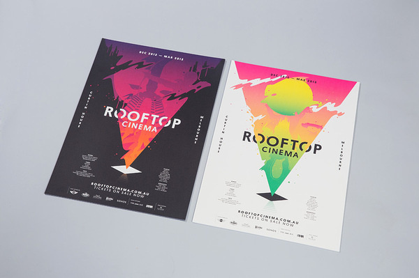 Rooftop Cinema SouthSouthWest #print #poster