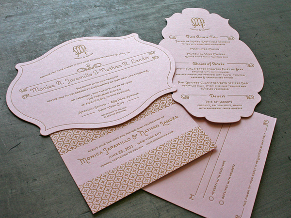Custom Diecut Wedding Invitations « Beast Pieces #letterpress #diecut #on #invitations #fire #invites #studio #wedding